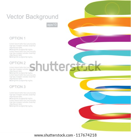 White background with color ribbons