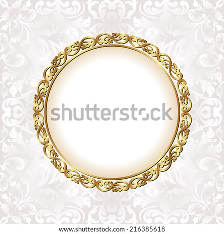 white background with decorative frame - stock vector