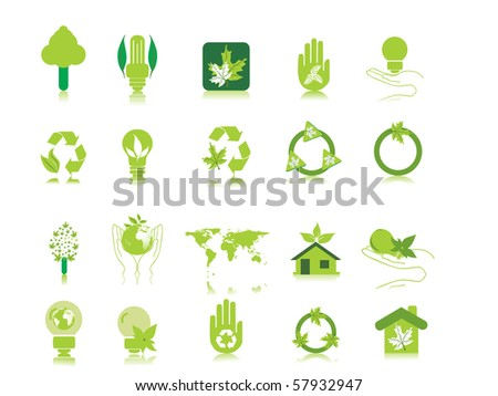 white background with set of glossy icons, vector illustration - stock vector