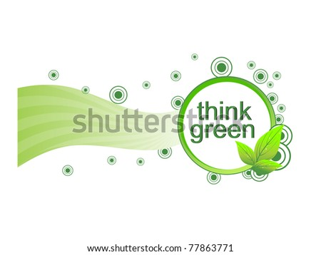white background with think green frame - stock vector