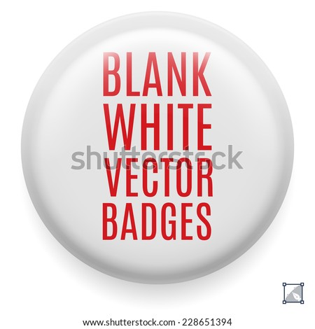 White badge template for your design. Front side - stock vector