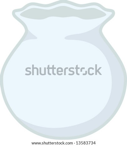 white bag or sack - stock vector