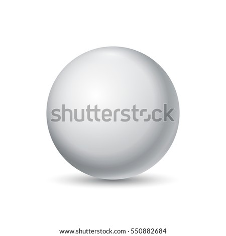 White ball. Sphere on a white background. Vector for your graphic design.