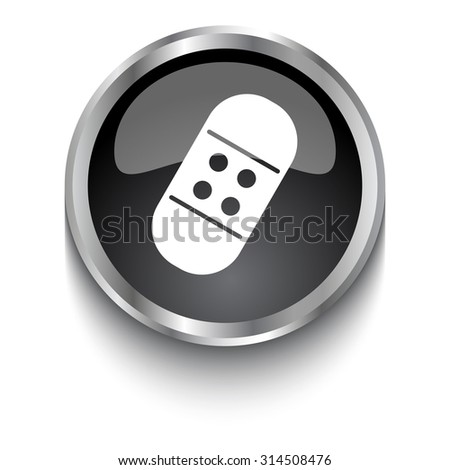 White Band Aid Symbol On Black Stock Vector 314508476 Shutterstock