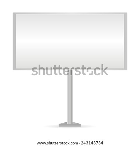 White Billboard - stock vector