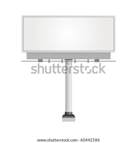 White billboard - stock vector