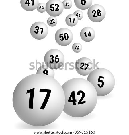 White Bingo Balls. Lottery Number Balls. Vector illustration. - stock vector