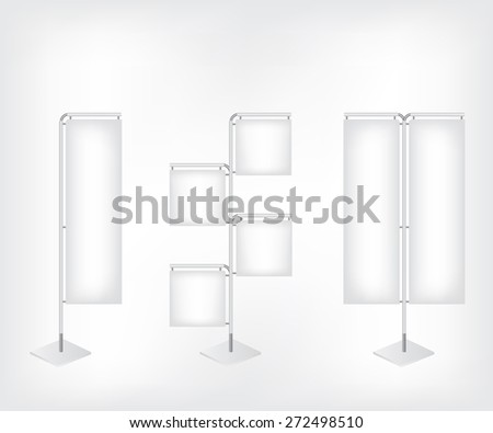 White blank banner flag - stock vector