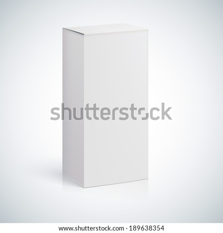 White blank box with empty space for custom text or image. - stock vector