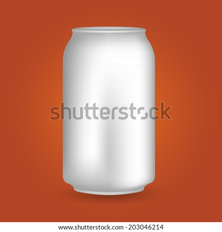 White Blank Drink Can