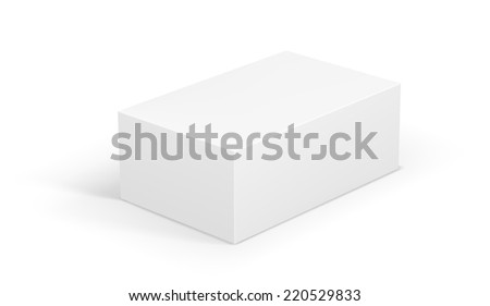 White Blank Package Box. Vector Illustration