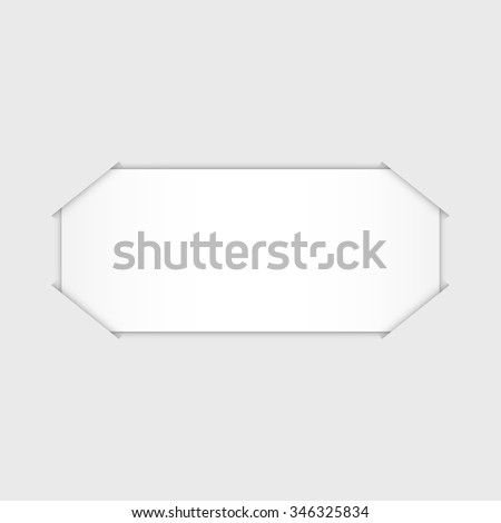 White blank paper, vector illustration