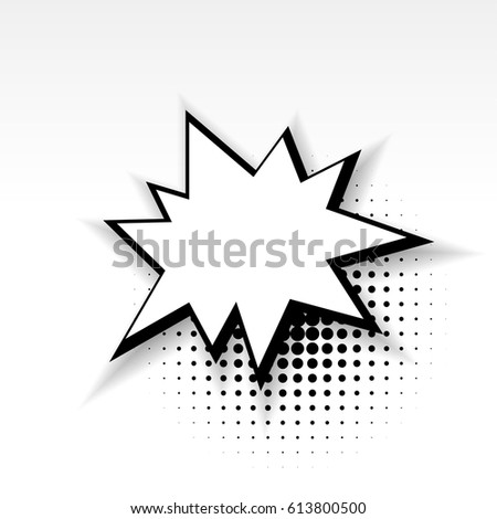 White Blank Star Template Comics Book Stock Vector