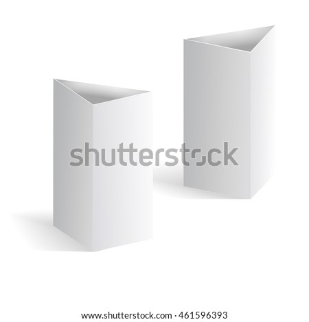 White Blank Table Tent Vector Vertical Stock Vector