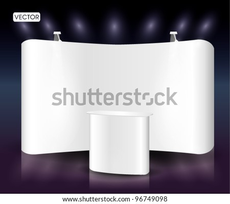 White blank trade show booth event - stock vector