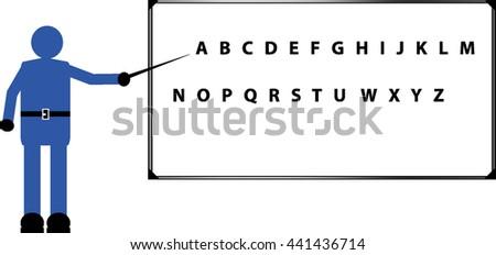 white board - stock vector