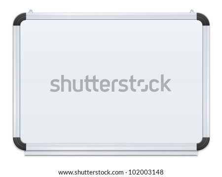 white board vector illustration isolated on black background EPS10. Transparent objects and opacity masks used for shadows and lights drawing