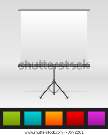 White board with empty space for your message or illustration. Vector illustration Eps 10. - stock vector