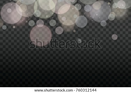 White Bokeh Christmas Light Vector Soft Glowing And Lights