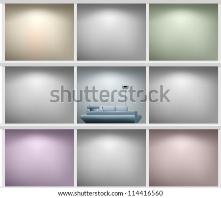 White bookshelf or cut room. Vector illustration - stock vector
