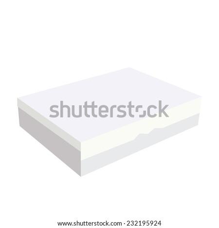 White box, cardboard box, software box, carton box, closed box - stock vector