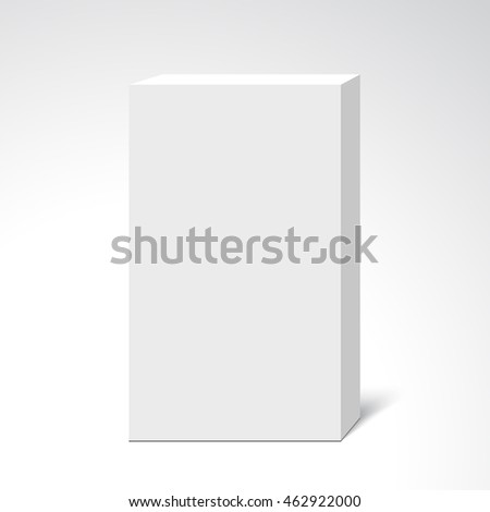White box. 3D. Package. Vector illustration.