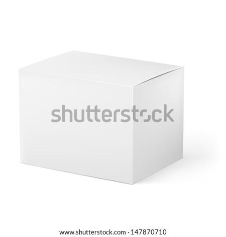 White box. Illustration on white background for design - stock vector