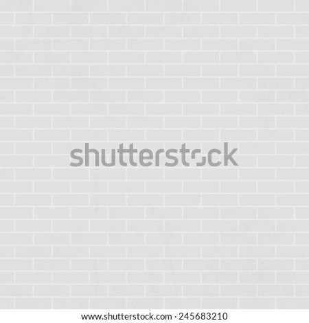 White brick wall background - Vector - stock vector