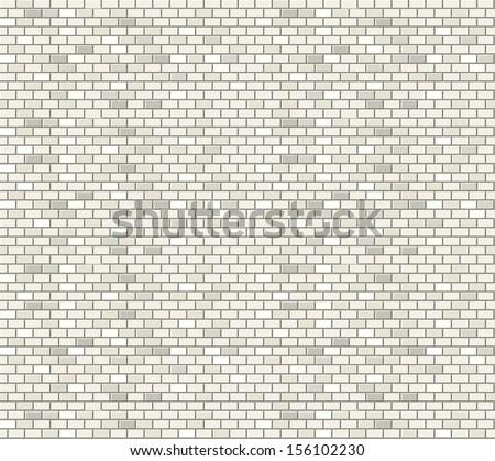 White brick wall seamless pattern - stock vector