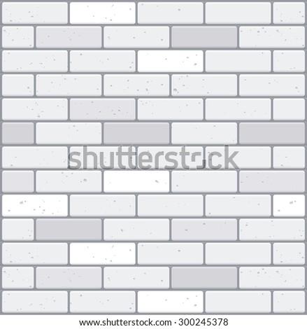 White brick wall. Seamless texture - stock vector