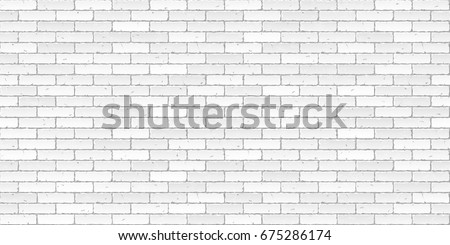 White brick wall texture seamless vector illustration