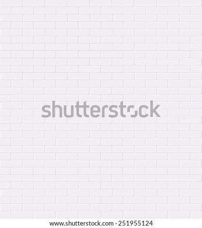 White brick wall. Vector. Seamless. - stock vector
