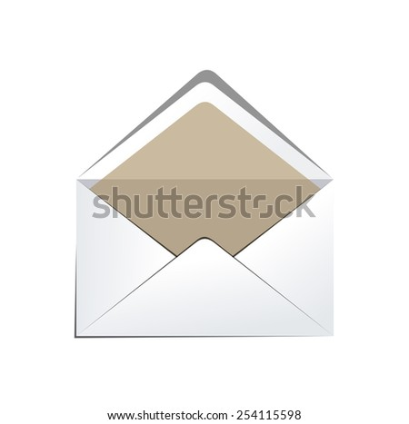 White Camel Envelope Isolated On White Background. Template product packing. Vector  - stock vector