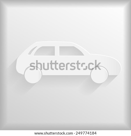 White car icon, vector illustration - stock vector