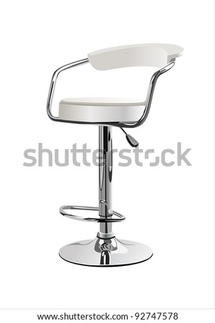 White chair isolated on white background. - stock vector