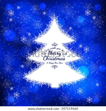 White christmas tree postcard texture snow stock vector 347519660 white christmas tree postcard with the texture of snow sample new year cards m4hsunfo