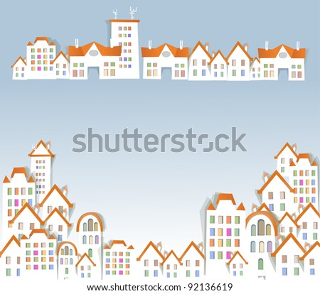 White city background - stock vector
