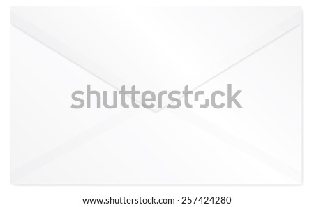 White closed envelope vector isolated - stock vector