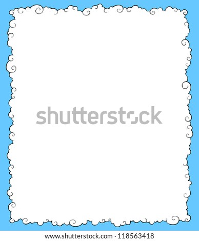 White clouds on a blue background vector illustration - stock vector