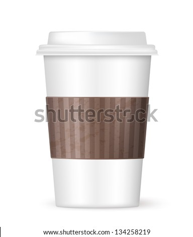 white coffee to go cup