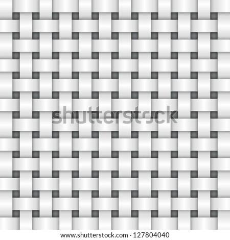 white color basket weave texture. Vector. - stock vector