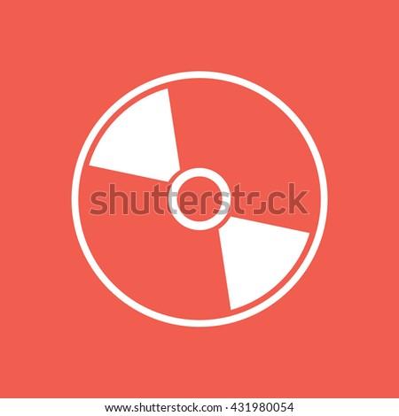 White compact disc icon vector. CD / DVD vector illustration - stock vector