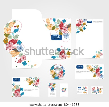 White corporate style - stock vector