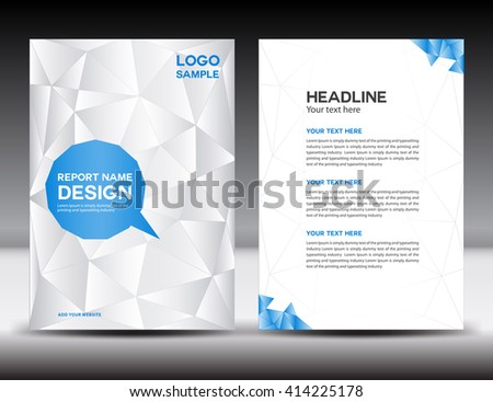 White Annual Report Template Brochure Flyer Stock Vector 372836410