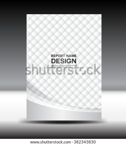 White Cover Template Black Backgroundleaflet Book Cover Stock Photo ...