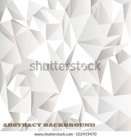 White crumpled abstract background.Vector eps10 - stock vector