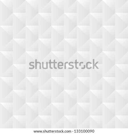 white crumpled paper with geometric pattern - stock vector