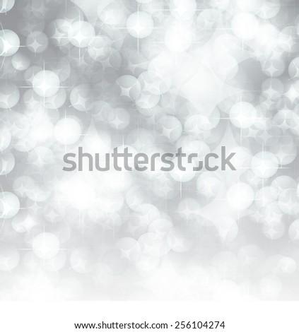 white Defocused Light, Flickering Lights, Vector abstract festive background with bokeh defocused lights. - stock vector