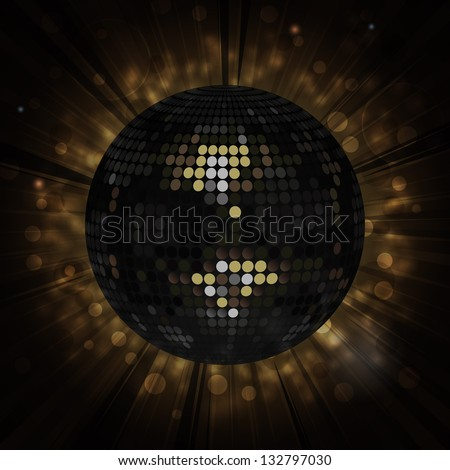 White Disco Ball Background - stock vector