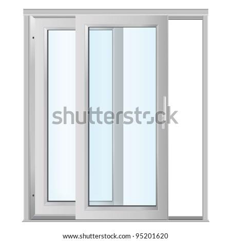 White Doors Glass Panels Stock Vector 95201620 Shutterstock